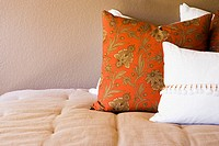 Throw Pillows on Bed