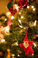 Christmas tree, close-up,   Christmas, Christmas tree, tree, decorated, Christmas tree jewelry, tree jewelry, lights, balls, Santa Claus figure, chris...