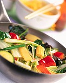 Chinese Stir Fry Vegetables in a Wok