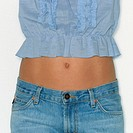 Midriff of Woman