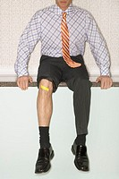 Businessman with Injury
