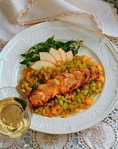 Stuffed Chicken Dish with White Wine