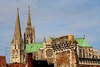 gothic cathedral in Chartres, France