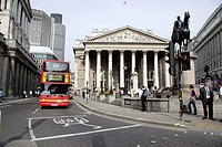 Royal Exchange and the Bank of England, Bank, City of London, UK