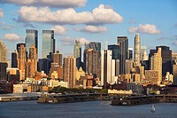 View of west side of Manhattan. New York city. USA