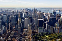 Aerial view of Manhattan and Central Park. New York city. USA