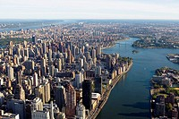 Aerial view of New York city. USA