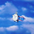 Flying Airplane with Pocket Watch