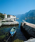 10150050, Montenegro, coastal place, Kotor, harbour, port, boat, houses, homes, coast, fisherman