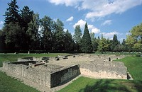 Germany, Baden-Württemberg, Rottweil, Roman bath, remains, summer Europe, Black forest, excavation, ruin, monument bath installation, size 45 x 42 m, ...