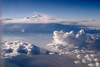 Cloudscape seen from jet airplane