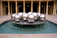 Fountain at Palais Royal in Paris