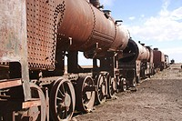 Rusted trains at Uyuni, Bolivia