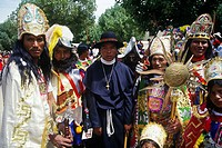 Carnival characters from the Conquest. Oruro was a ceremonial centre from prehispanic times. In Paria, the first city in Bolivia founded by Spanish, p...