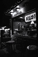 Coffee Shop Open at Night