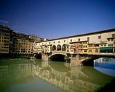 Ponte vecchio bridge, Arno river, Florence, Tuscany, Italy.