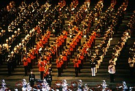 Bands, Military tattoo, Edinburgh castle, Scotland, UK