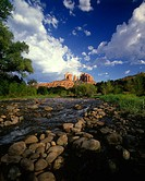Scenic cathedral rock & red rock crossing, Sedona, Arizona, USA.