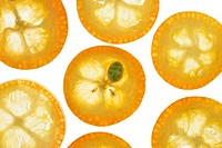 Kumquatscheiben, detail, kernel   Series, food, fruit, fruits, exotic, tropical, South fruits, citrus fruits, Kumquats, Limequats, dwarf oranges, dwar...