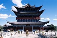 China, province Yunnan, Lijiang, Mu-Palast, Wan Juan pavilion,  Asia, Eastern Asia, Mu palace, temples, pagoda, construction, architecture, sight, UNE...