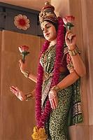 Hindu Goddess at Temple in Kuala Lumpur