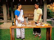 Island Sri Lanka, Negombo, Ethukala,  Ayurveda-Pavillons-Negombo, garden,  couple, ingredients, ayurvedisch, presents, Asia, South Asia, tourism, Hote...