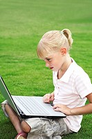 Girl using the laptop