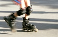 Inlineskater, detail, legs, movement, Fuzziness,   Person, child, Inlineskates, Inlineskating, sport, drives athletically, activity leisure time hobby...