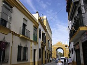 San Luis street. Macarena neighbourhood. Sevilla. Andalucia. Spain
