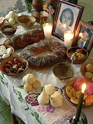 Offering for Dia de los Muertos. Mexico.