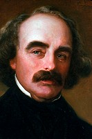 Nathaniel Hawthorne, American novelist, 1862, painted by Emanuel Leutze.