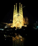Sagrada familia, Barcelona, Catalunya, Spain.