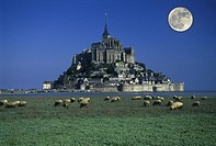 Scenic mont saint michel, Normandy, France.