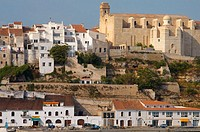 Mahón viewed from the harbour. Minorca. Balearic Islands. Spain