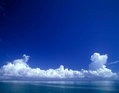 Scenic cloudscape over sea