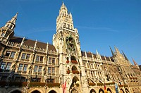 New Town Hall, Glockenspiel, Marienplatz, Munich, Bavaria, Germa