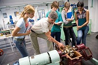 Polytechnic School, University of the Basque Country, Donostia, Gipuzkoa, Basque Country. Students, Turbine, Hydraulic machines laboratory, Department...