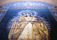 Spain, Seville, decorated tiles depicting the Virgin Mary