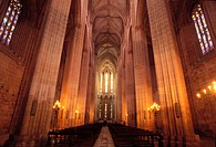Portugal, Lisbon region, Bathala monastery, gothic architecture, World Heritage of UNESCO