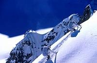 France, Haute-Savoie (74), Mont Blanc, cosmic ridge