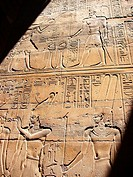 Hieroglyphs at Luxor Temple