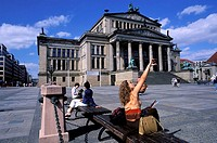 Germany, Berlin, Gendarmenmarkt Square, the Schauspielhaus theater