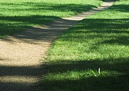 Dirt walkway throught grass