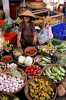 Vietnam, Mekong Delta, the market of Can Tho