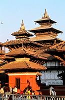 Nepal, Kathmandu, Durbar square temples