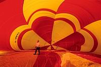 France, Saone-et-Loire (71), Chalon sur Saone, les Montgolfiades, annual hot-air balloon festival