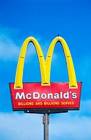 United States, New Mexico, restaurant Mac Donald