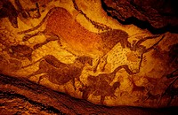 France, Dordogne (24), Lascaux II caves, paintings
