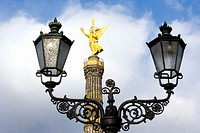 Germany, Berlin,  Victory Column, lampost in foreground