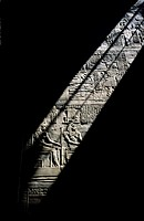 Stone relief at the temple of Horus in Edfu. Egypt